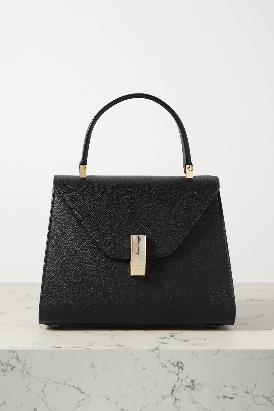 Valextra Iside small textured-leather tote