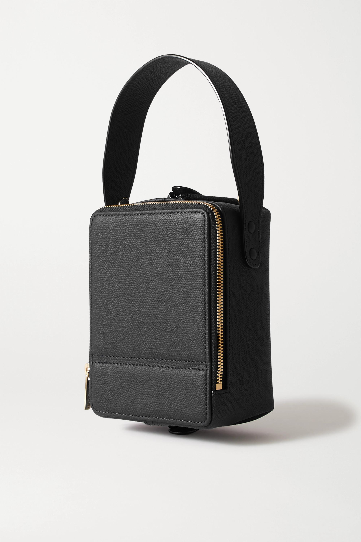 Valextra Trick Track mini textured-leather tote