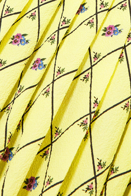 Emilia Wickstead Avalia pleated printed cloqué midi dress