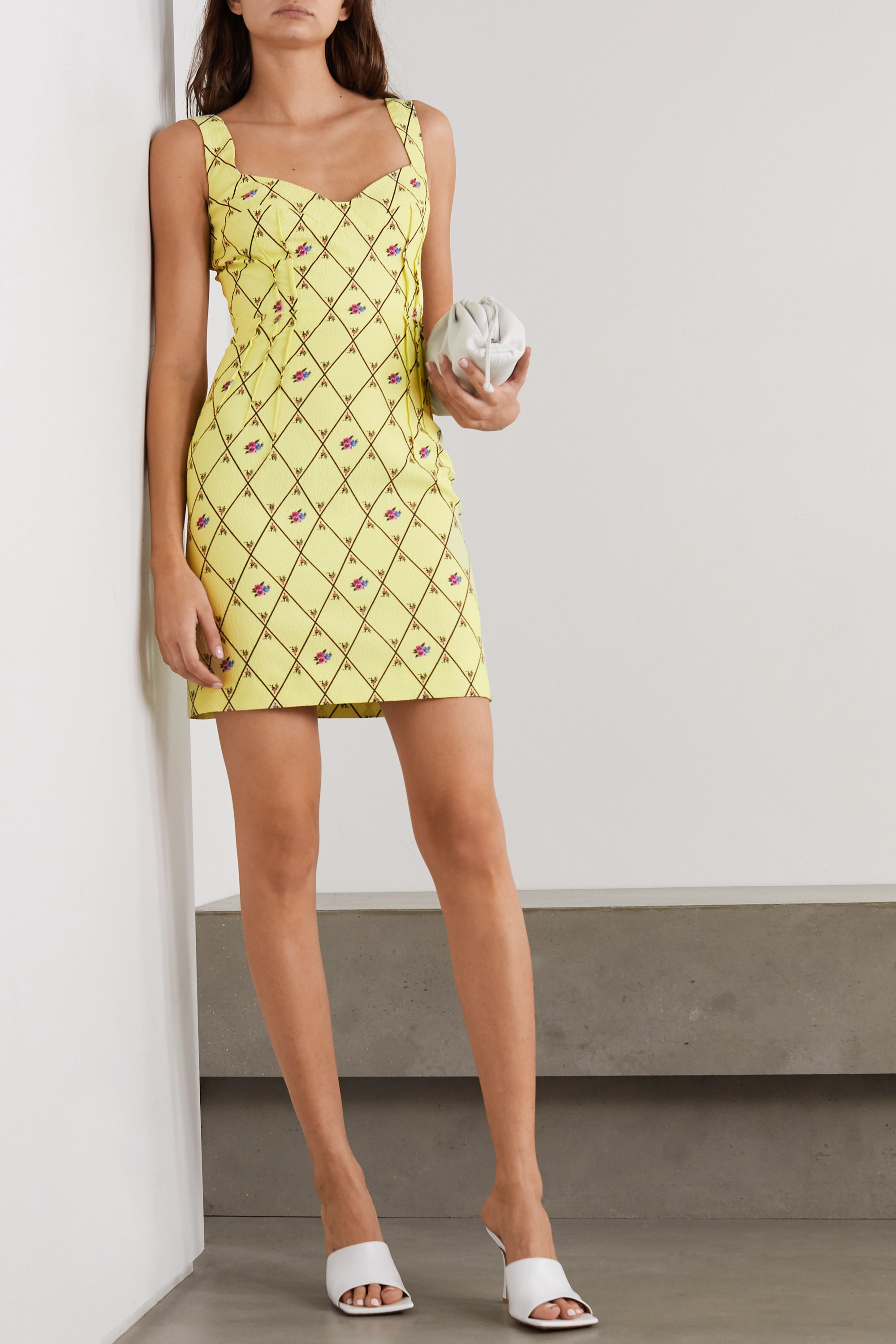 Emilia Wickstead Jude printed crepe mini dress
