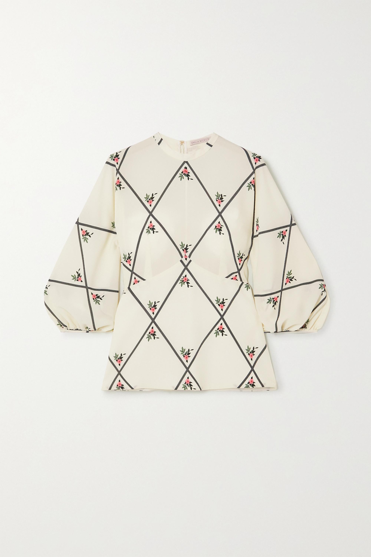 Emilia Wickstead Sylvie printed crepe top