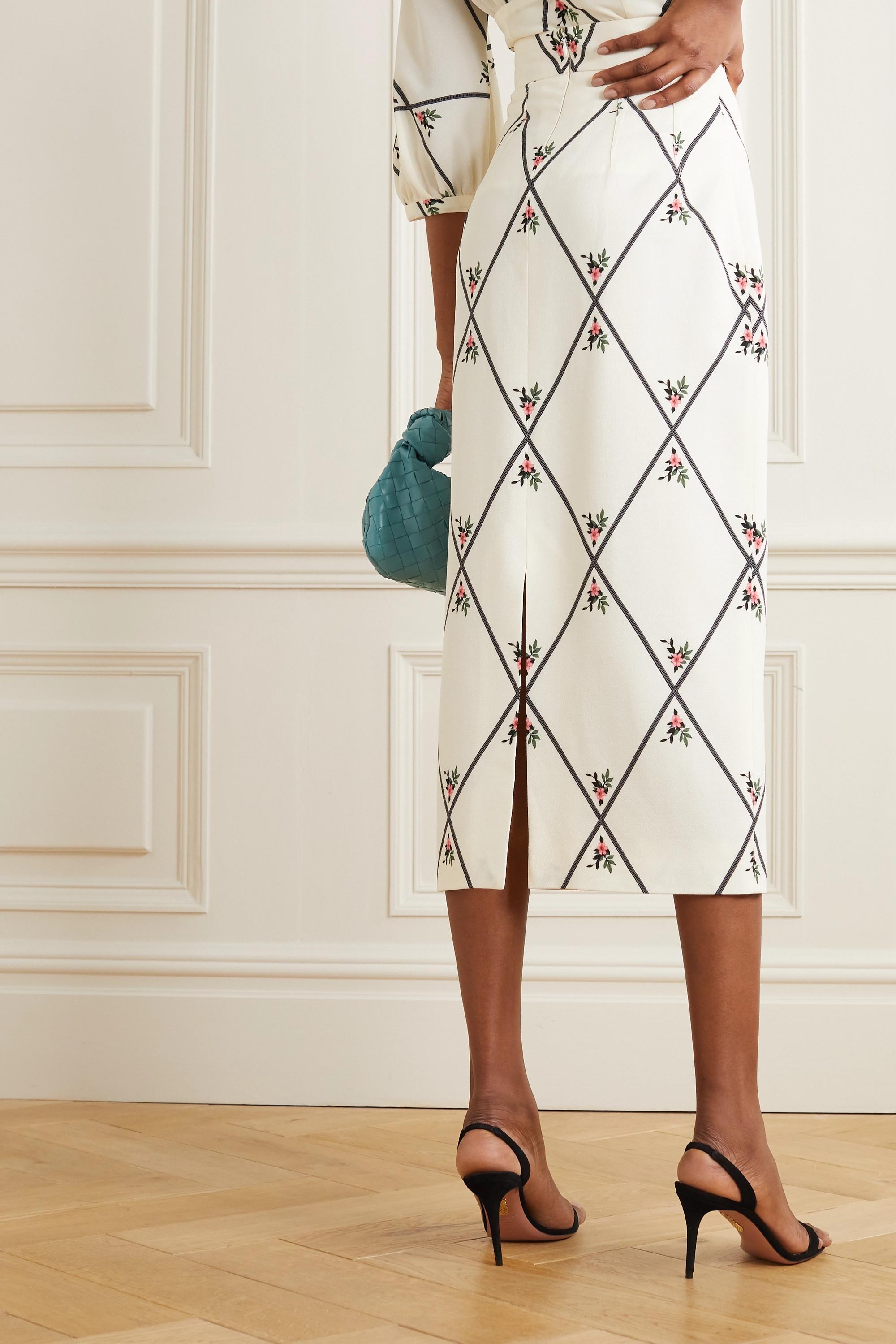 Emilia Wickstead Lorinda printed crepe maxi skirt