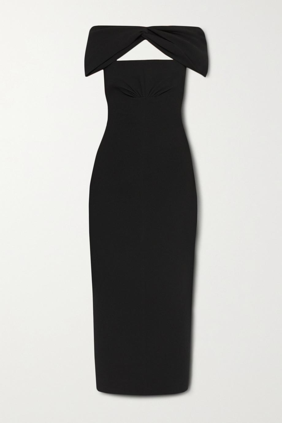 Emilia Wickstead Padma off-the-shoulder cutout crepe midi dress
