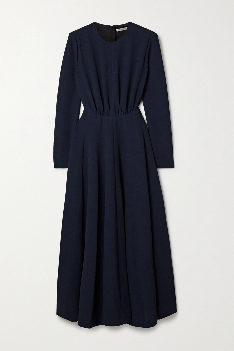 Emilia Wickstead Jorgie ruched cloqué midi dress