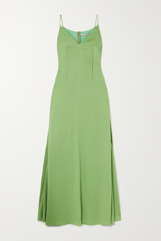 Emilia Wickstead Heber hammered silk-satin gown