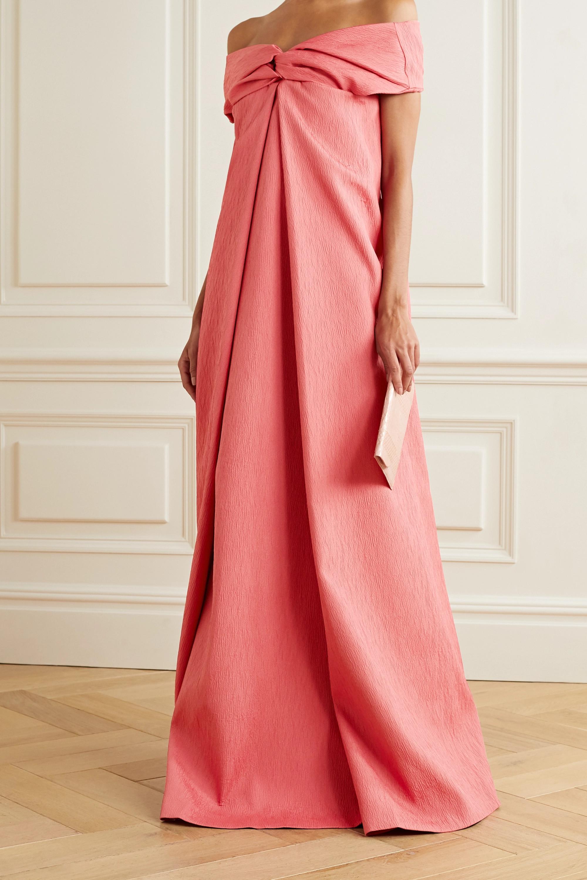 Emilia Wickstead Ursa off-the-shoulder cloqué gown