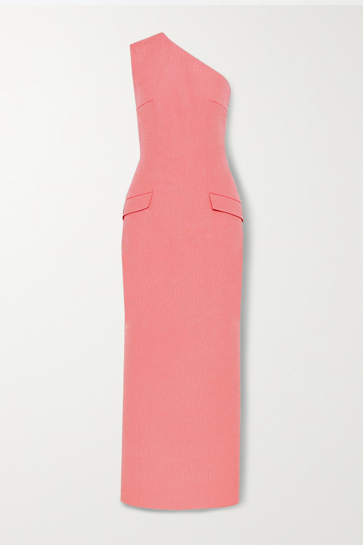 Emilia Wickstead Milena one-shoulder cloqué maxi dress