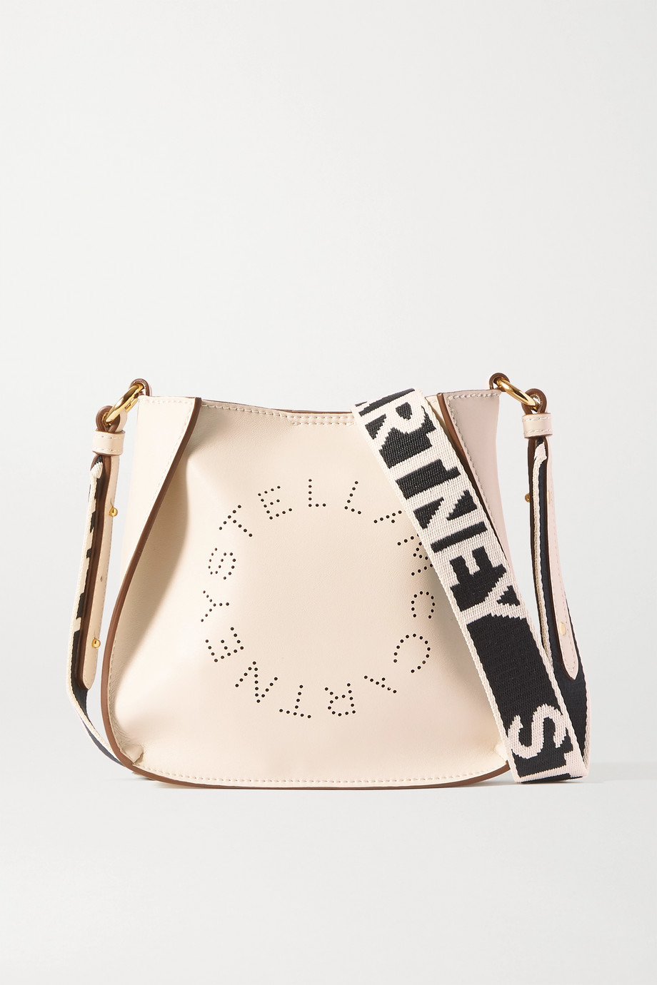 Stella McCartney + NET SUSTAIN small perforated vegetarian leather shoulder bag
