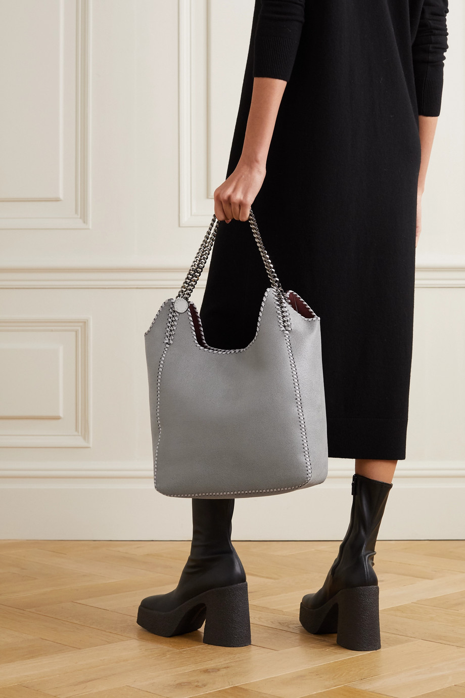 Stella McCartney The Falabella large vegetarian brushed-leather tote