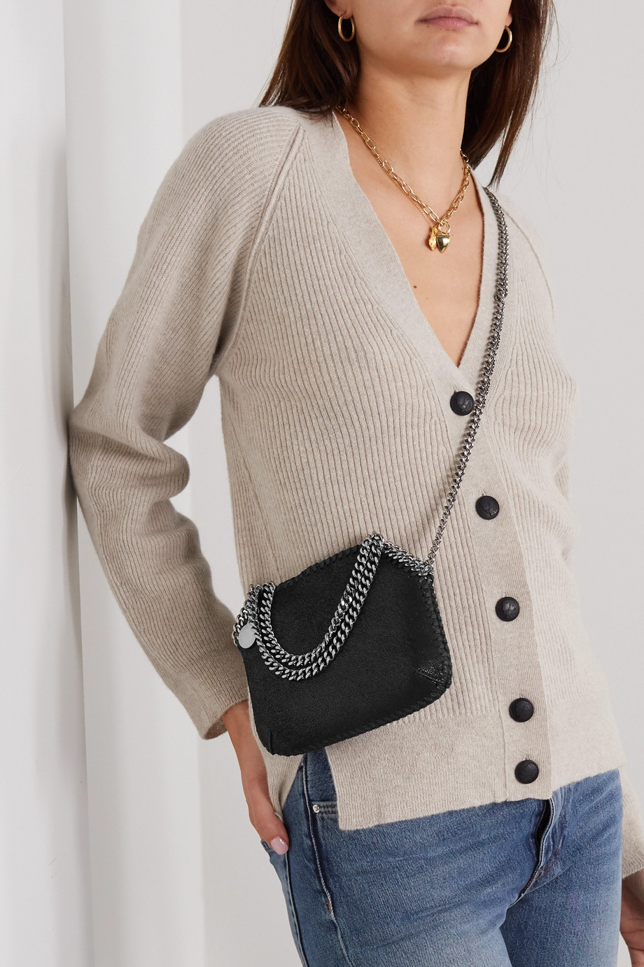 Stella McCartney Falabella 植物性磨砂皮革迷你单肩包