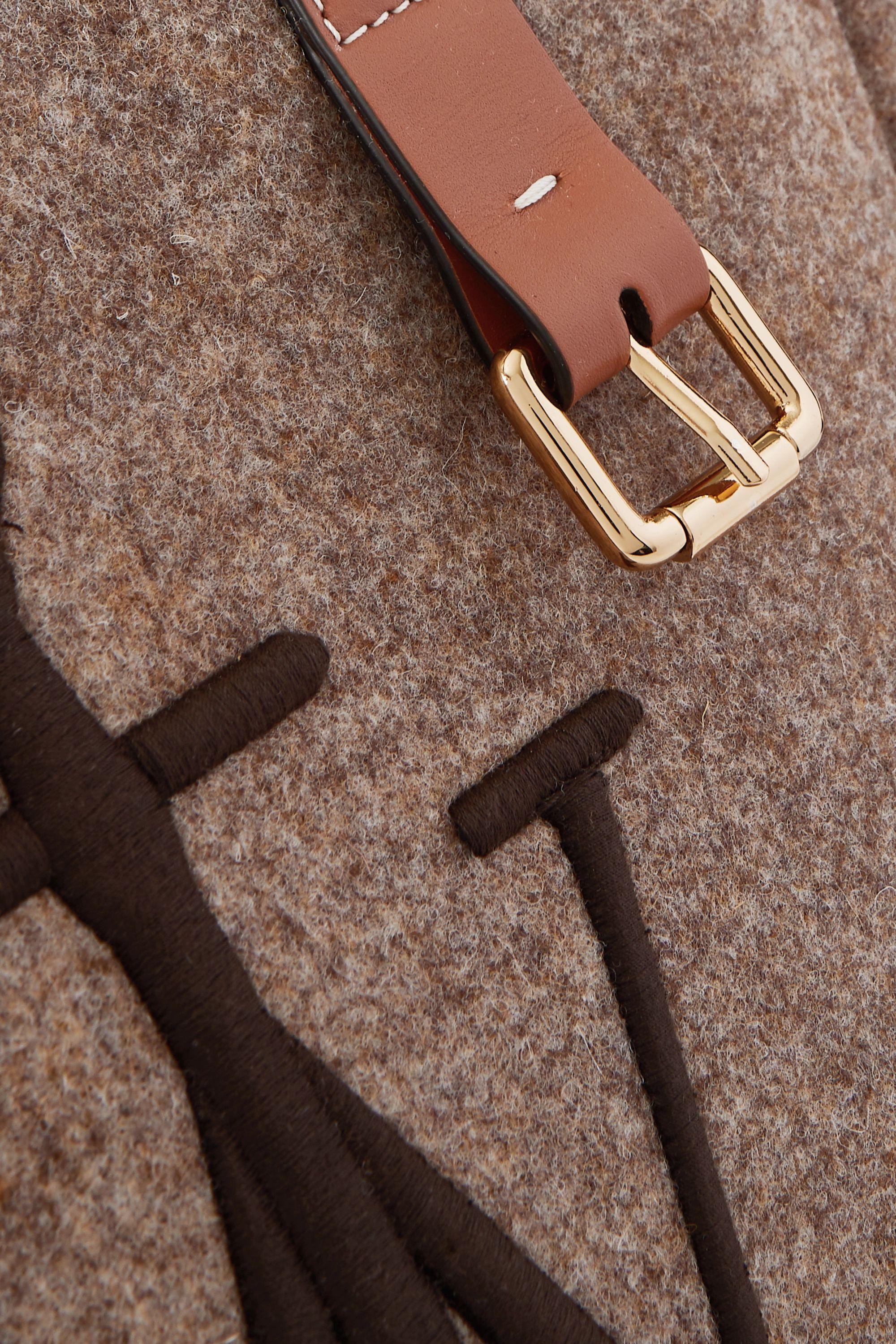 JW Anderson Sac à main en feutre à finitions en cuir et à broderies Belt Medium