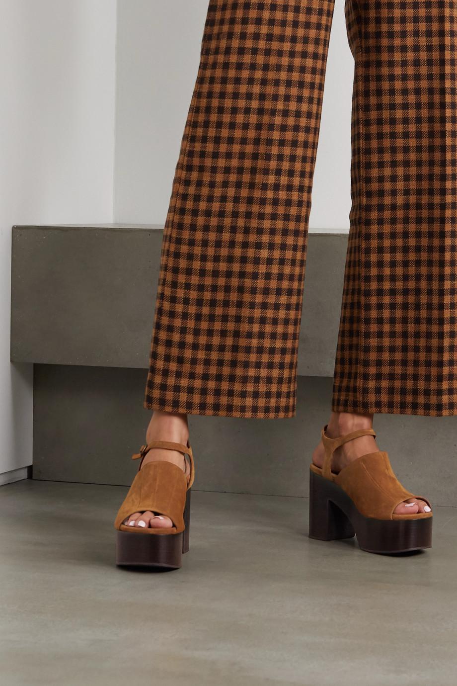 Dries Van Noten Suede platform sandals
