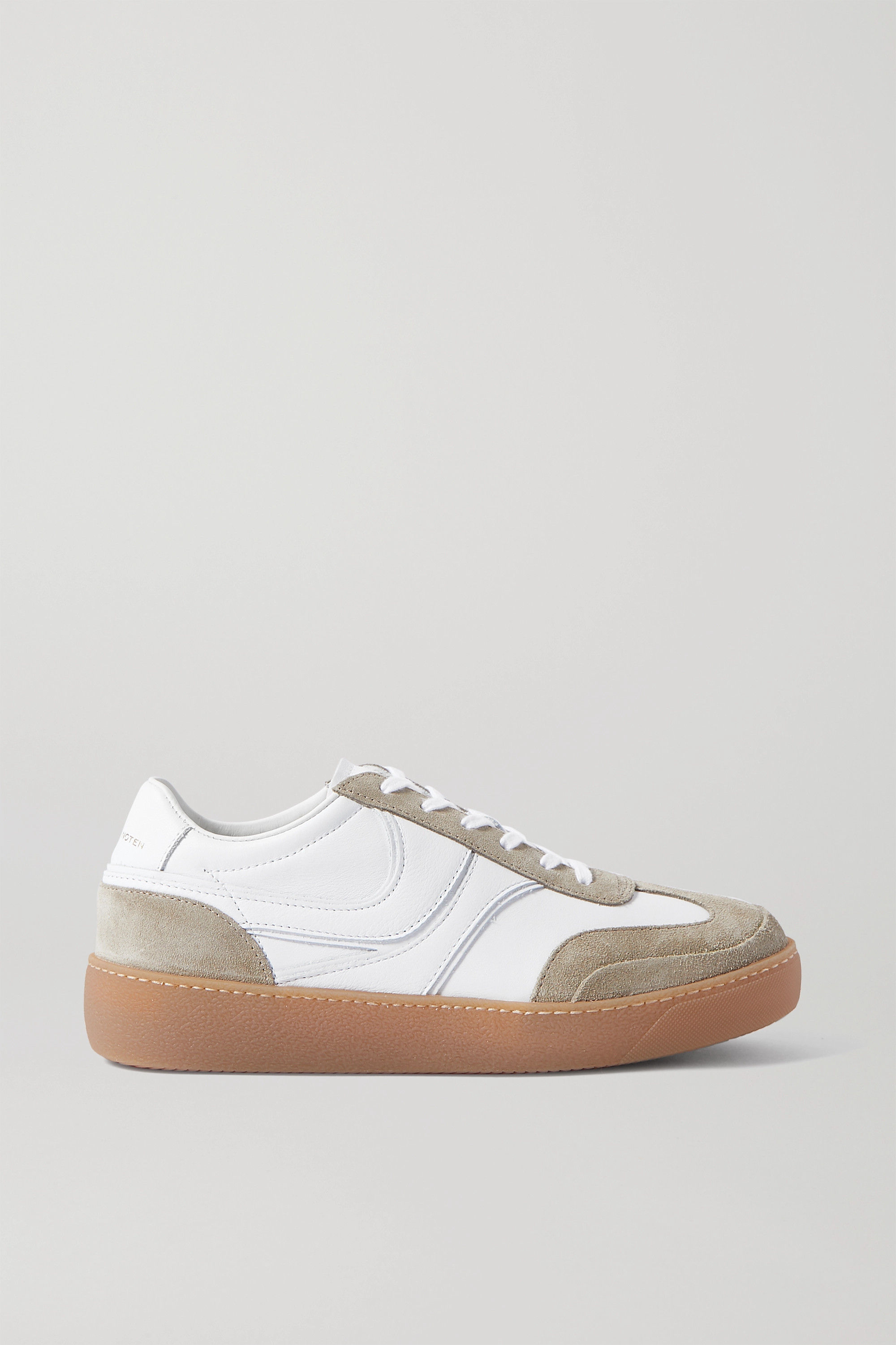Dries Van Noten Leather and suede sneakers