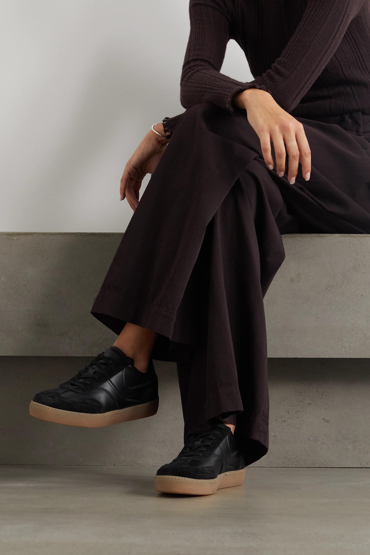 Dries Van Noten Sneakers aus Leder und Veloursleder