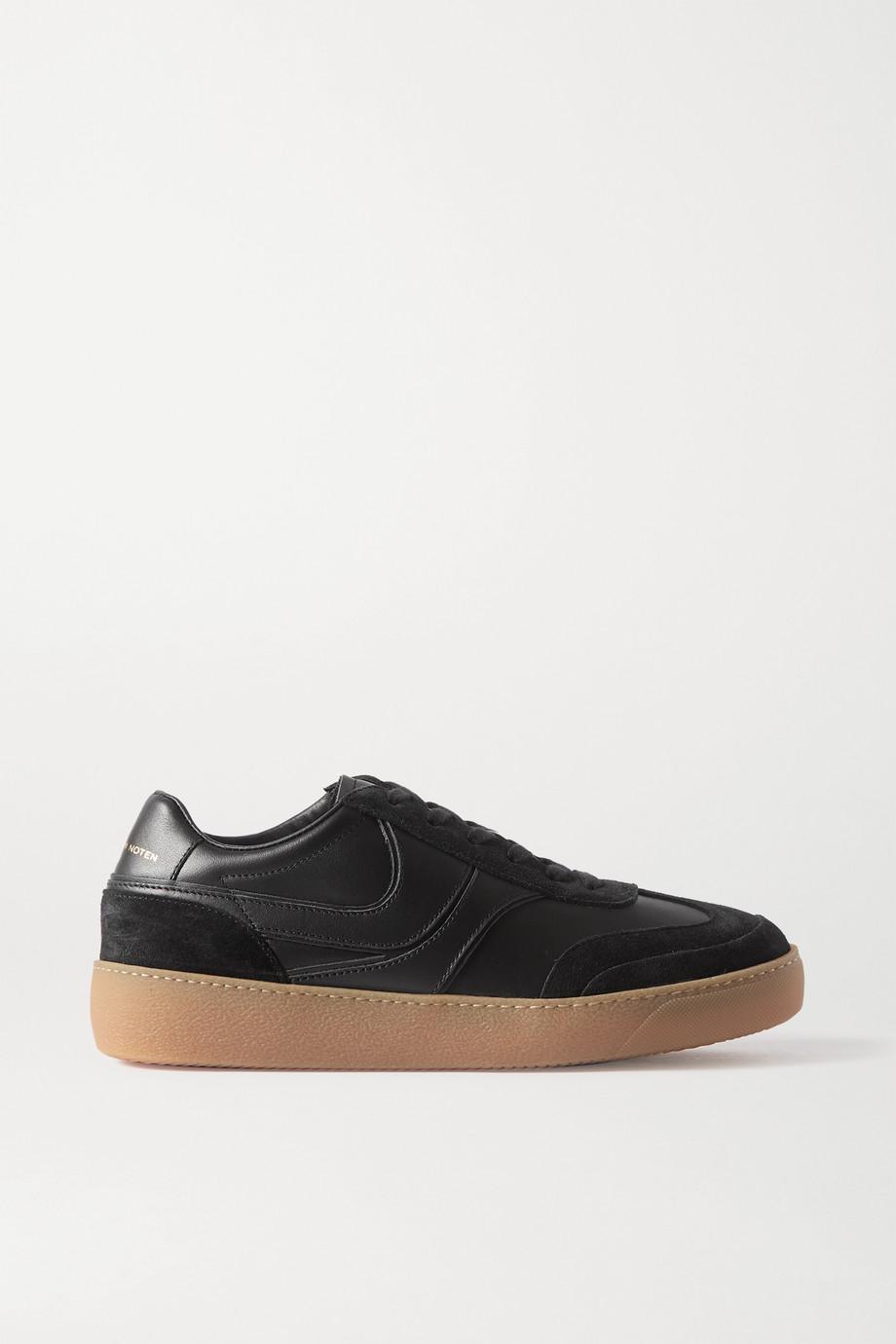 Dries Van Noten Leather and suede sneakers