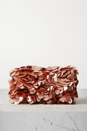 Dries Van Noten Envelope embellished velvet clutch