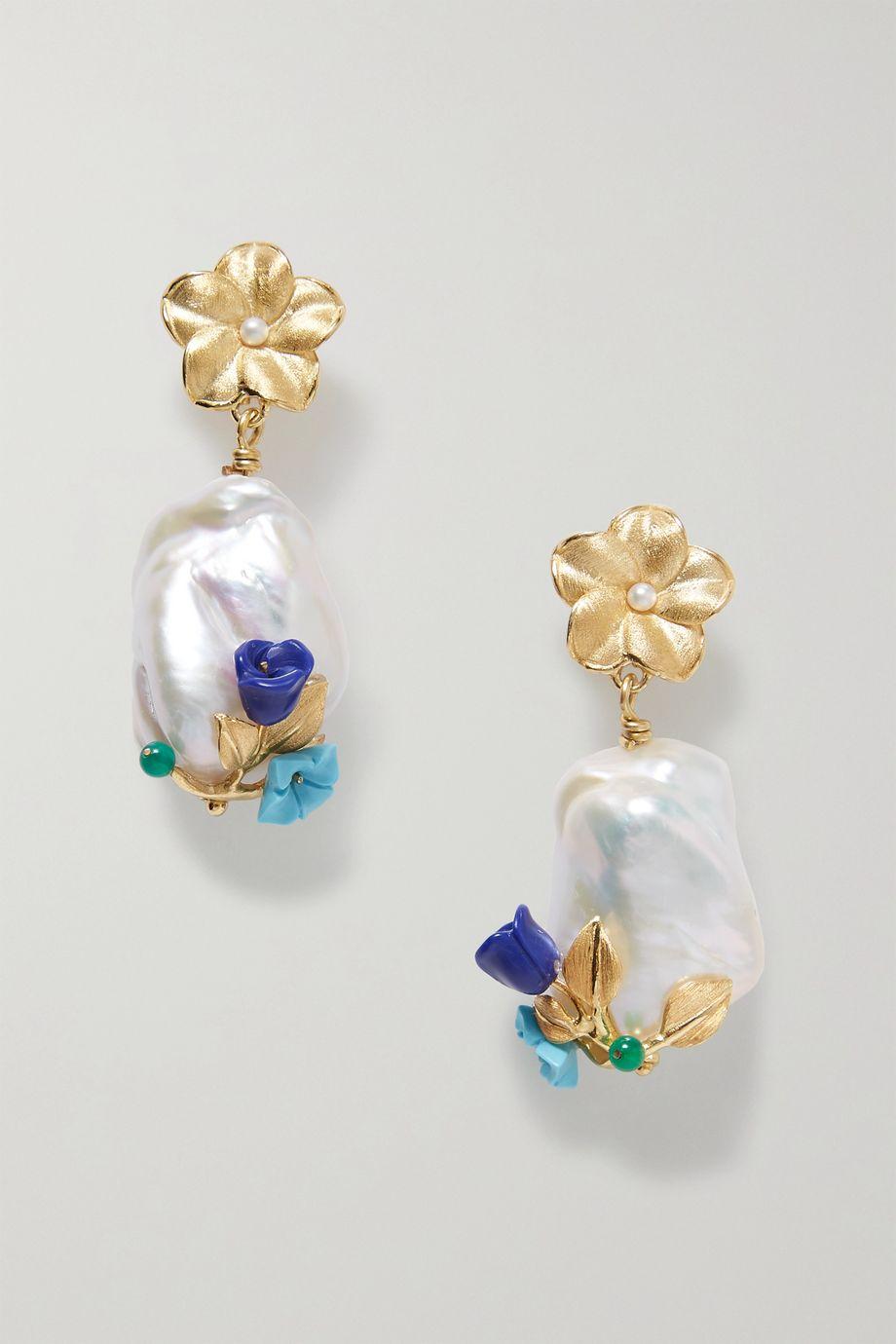 Of Rare Origin Power gold vermeil multi-stone earrings