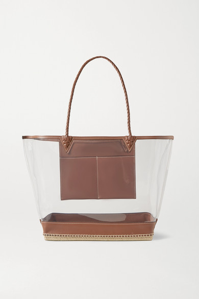 Altuzarra ESPADRILLE LARGE LEATHER-TRIMMED PVC TOTE