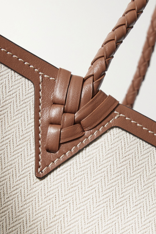 Altuzarra Espadrille large leather and jute-trimmed canvas tote