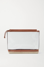 Altuzarra Espadrille leather and jute-trimmed PVC clutch