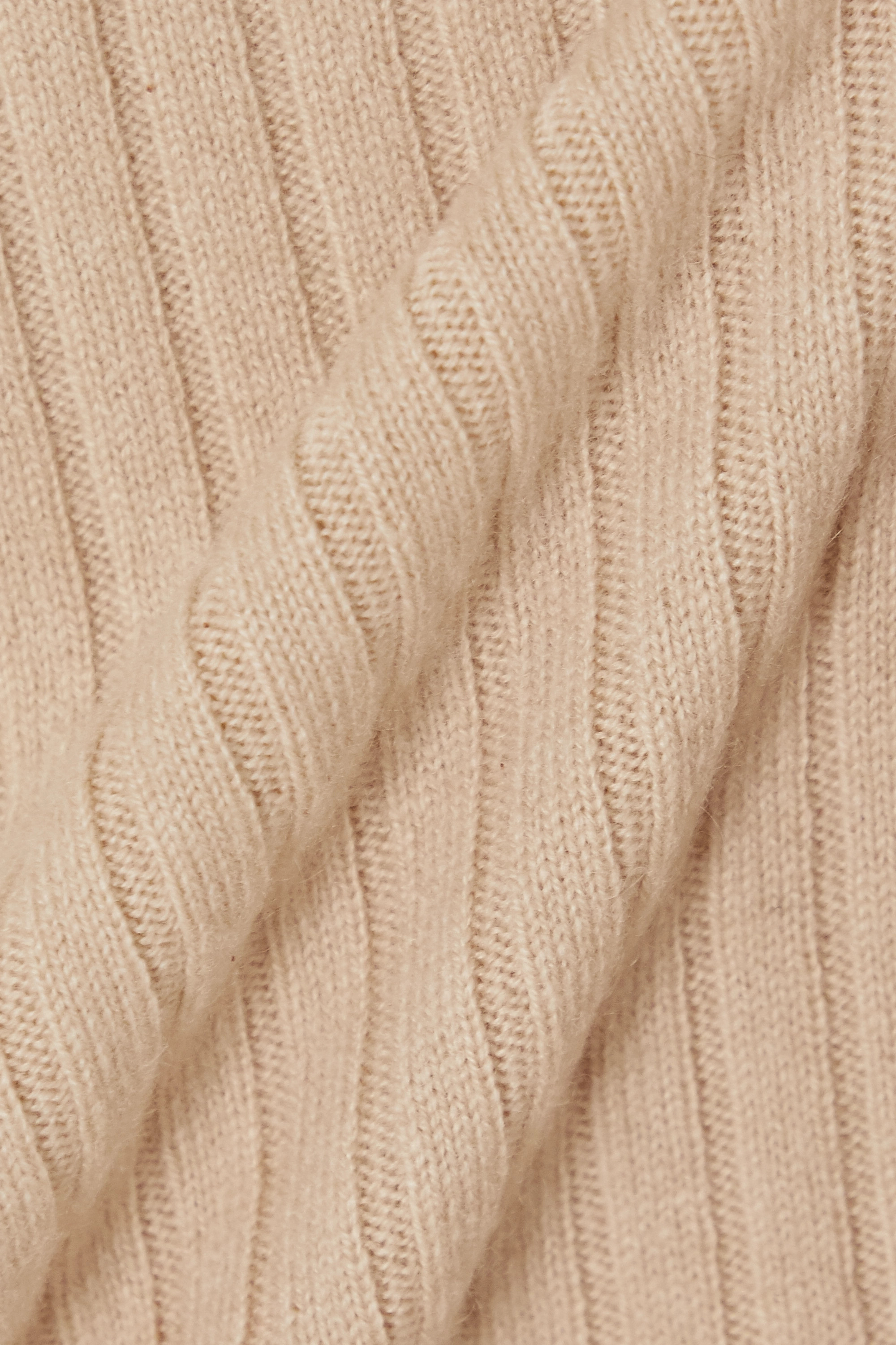 Beige Ribbed Cashmere Sweater | Allude