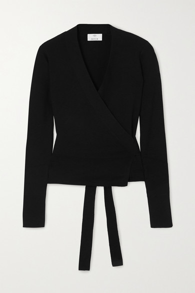 Allude - Wool Wrap Cardigan - Black