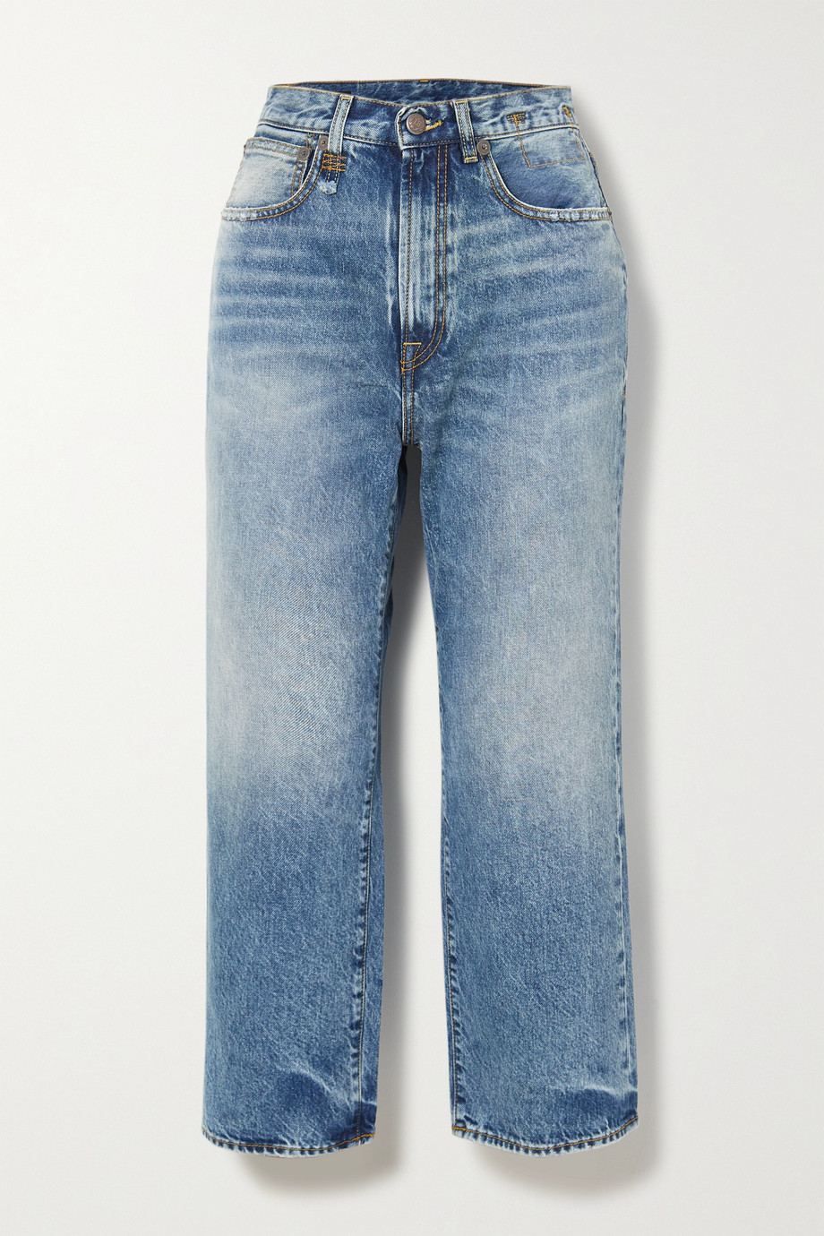 R13 Royer cropped high-rise wide-leg jeans