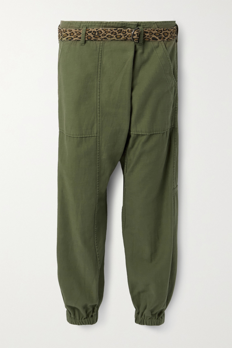 R13 Belted cotton tapered pants