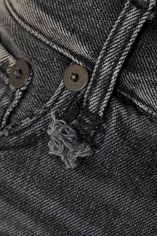 R13 Distressed denim shorts