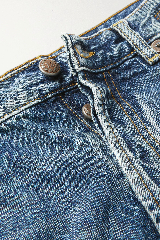 R13 Tailored Drop distressed low-rise boyfriend jeans