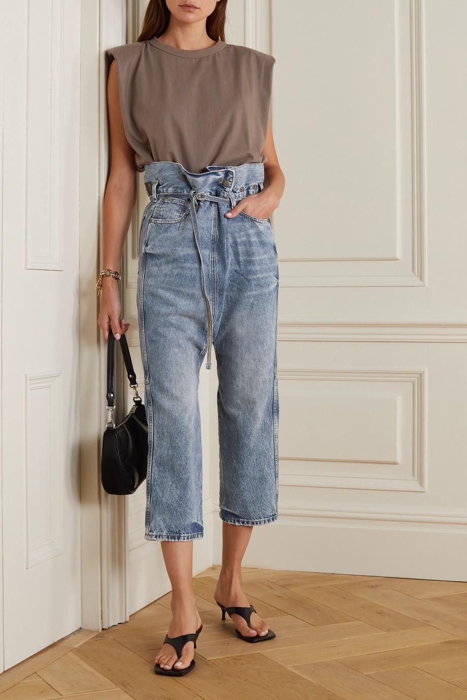 R13 Staley belted boyfriend jeans