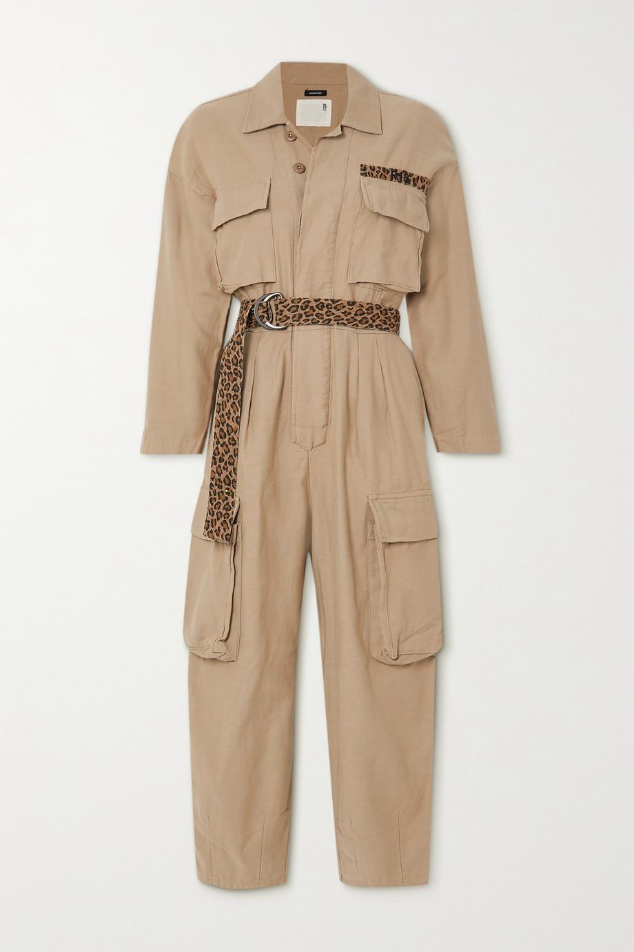 R13 Abu belted cotton-canvas jumpsuit