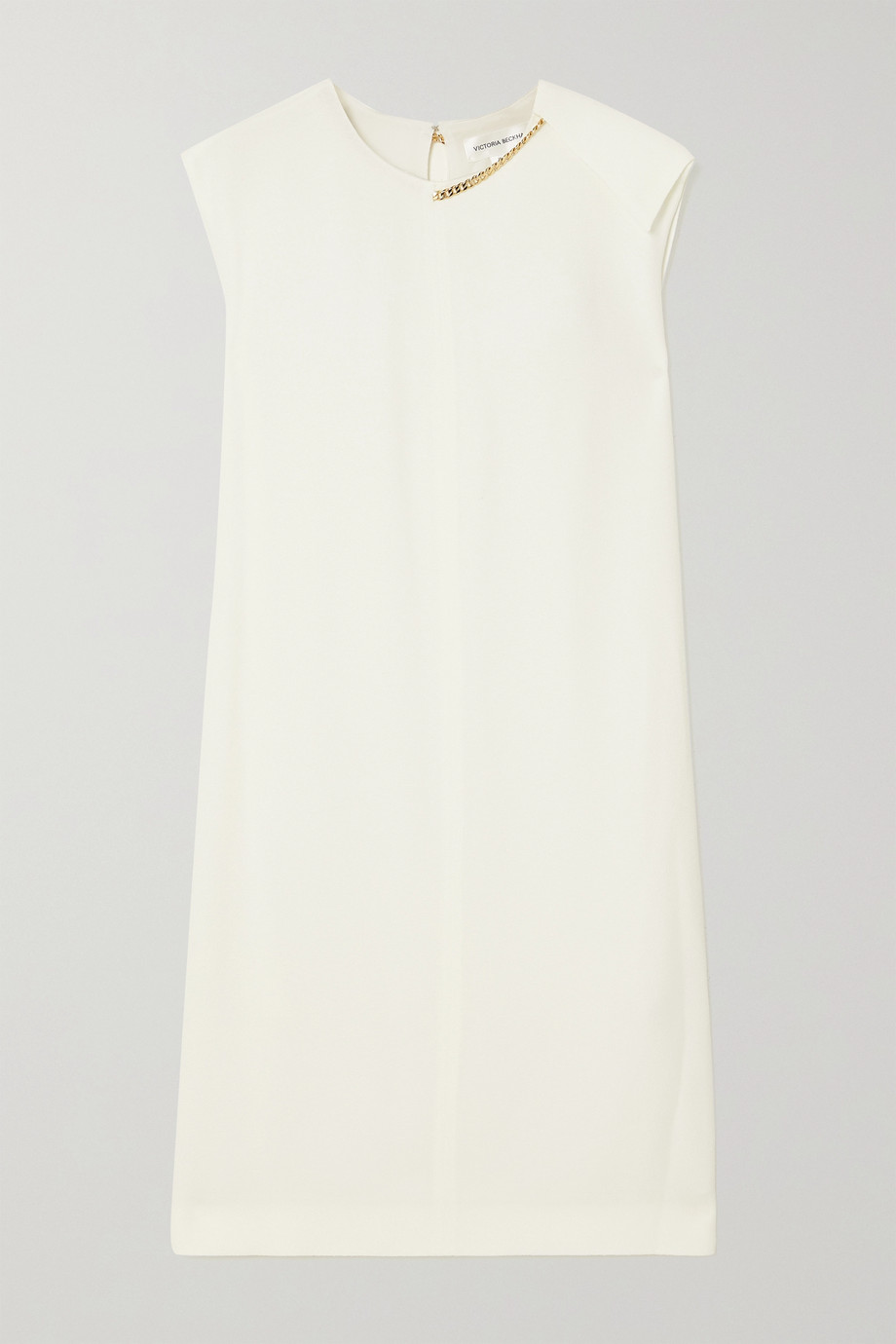 Victoria Beckham Chain-embellished crepe dress