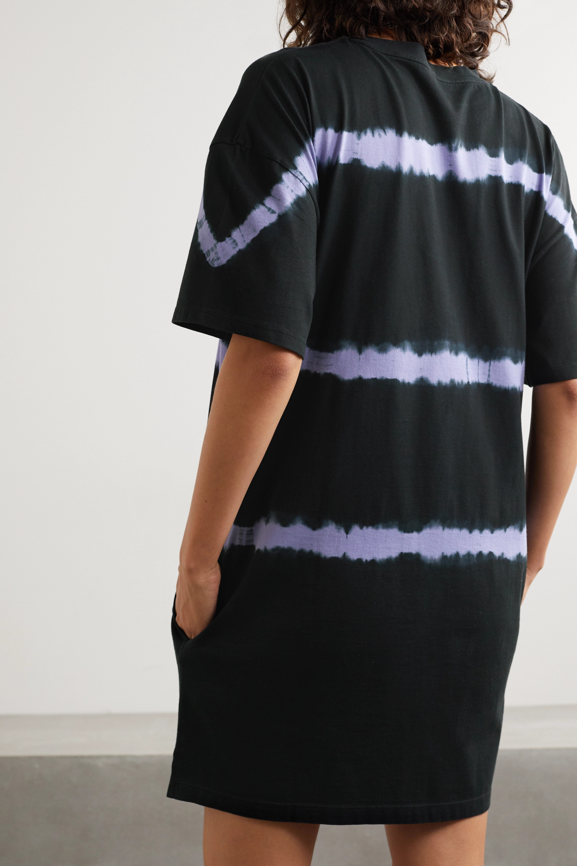 Ninety Percent 大廓形扎染有机纯棉平纹布迷你连衣裙