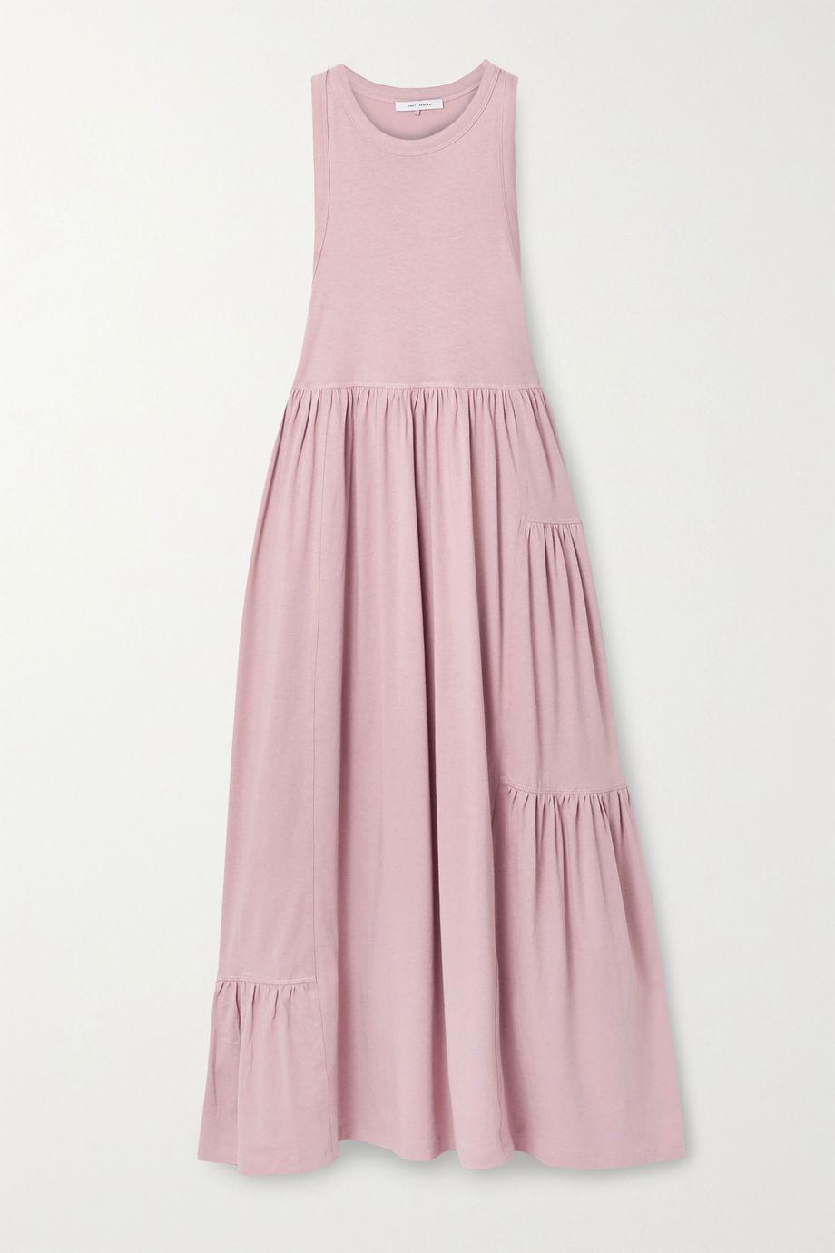 Ninety Percent Mono gathered organic cotton-jersey maxi dress