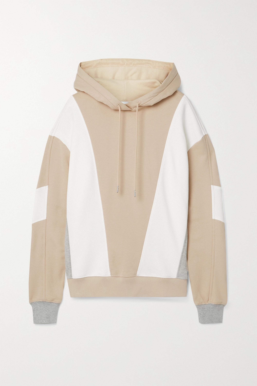 Ninety Percent Color-block organic cotton-jersey hoodie