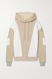 Ninety Percent Color-block organic cotton-jersey hoodie