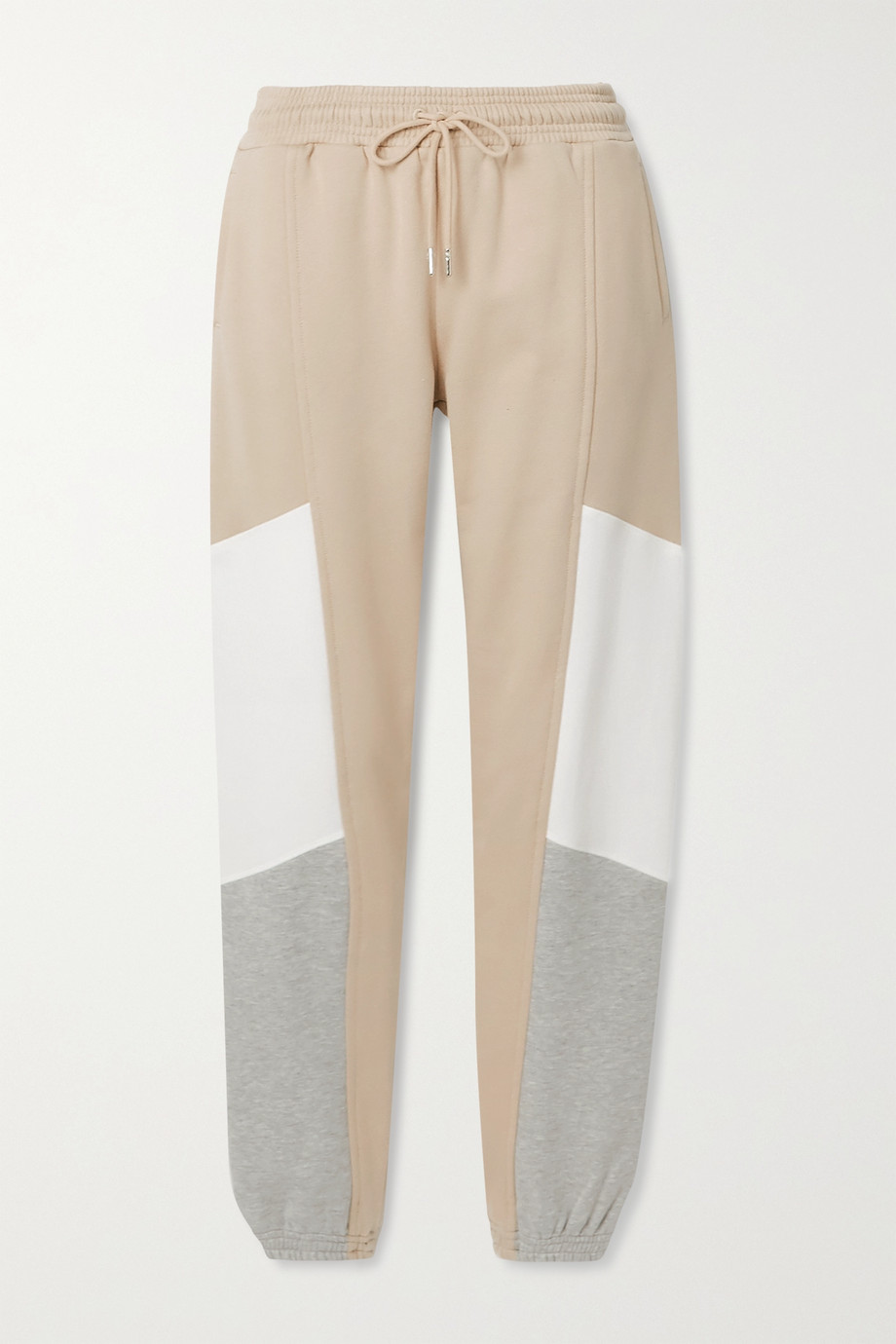 Ninety Percent Color-block organic cotton-jersey track pants