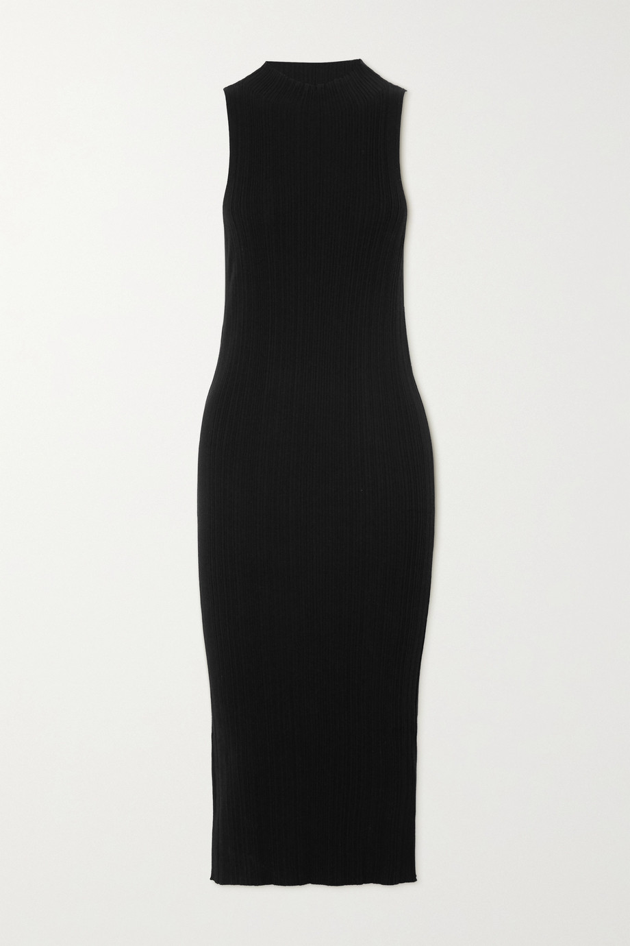 Ninety Percent Ribbed Tencel-blend midi dress