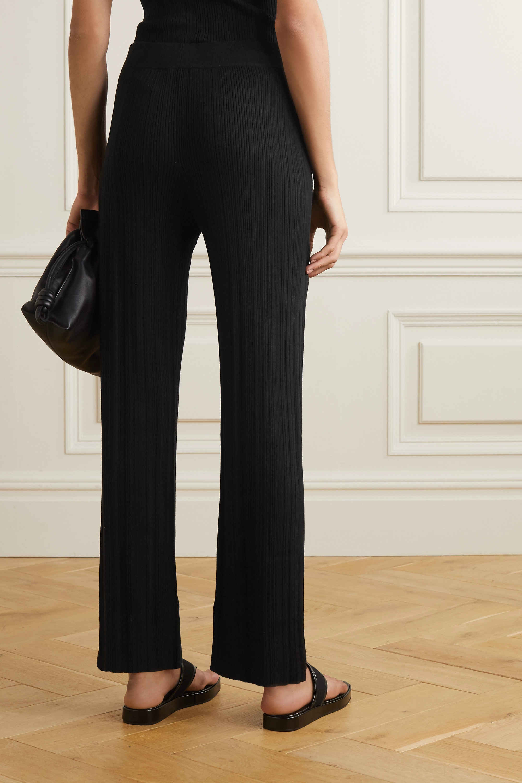 Ninety Percent 罗纹天丝混纺直筒裤