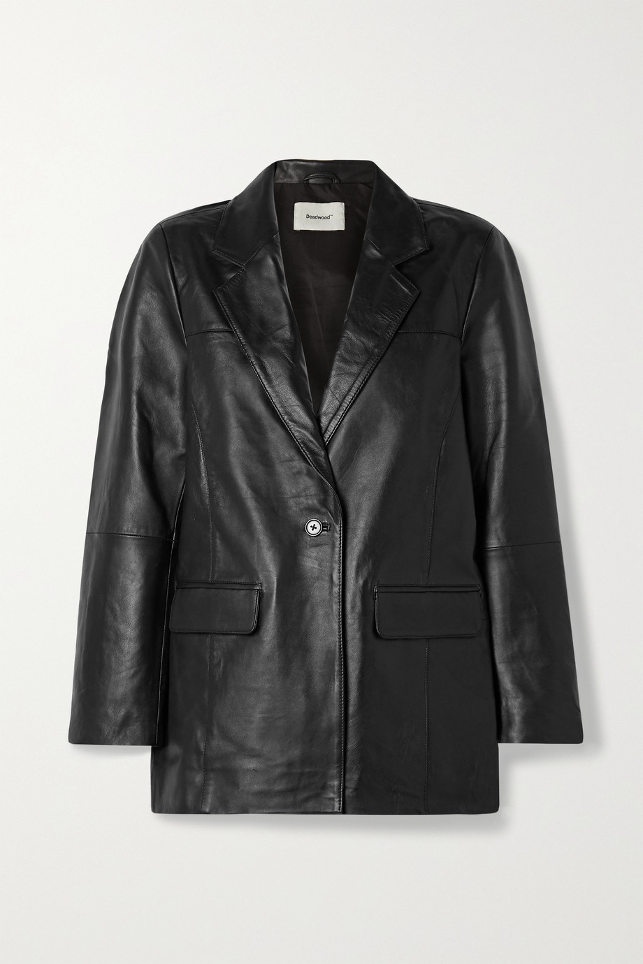 Deadwood + NET SUSTAIN Brooke leather blazer