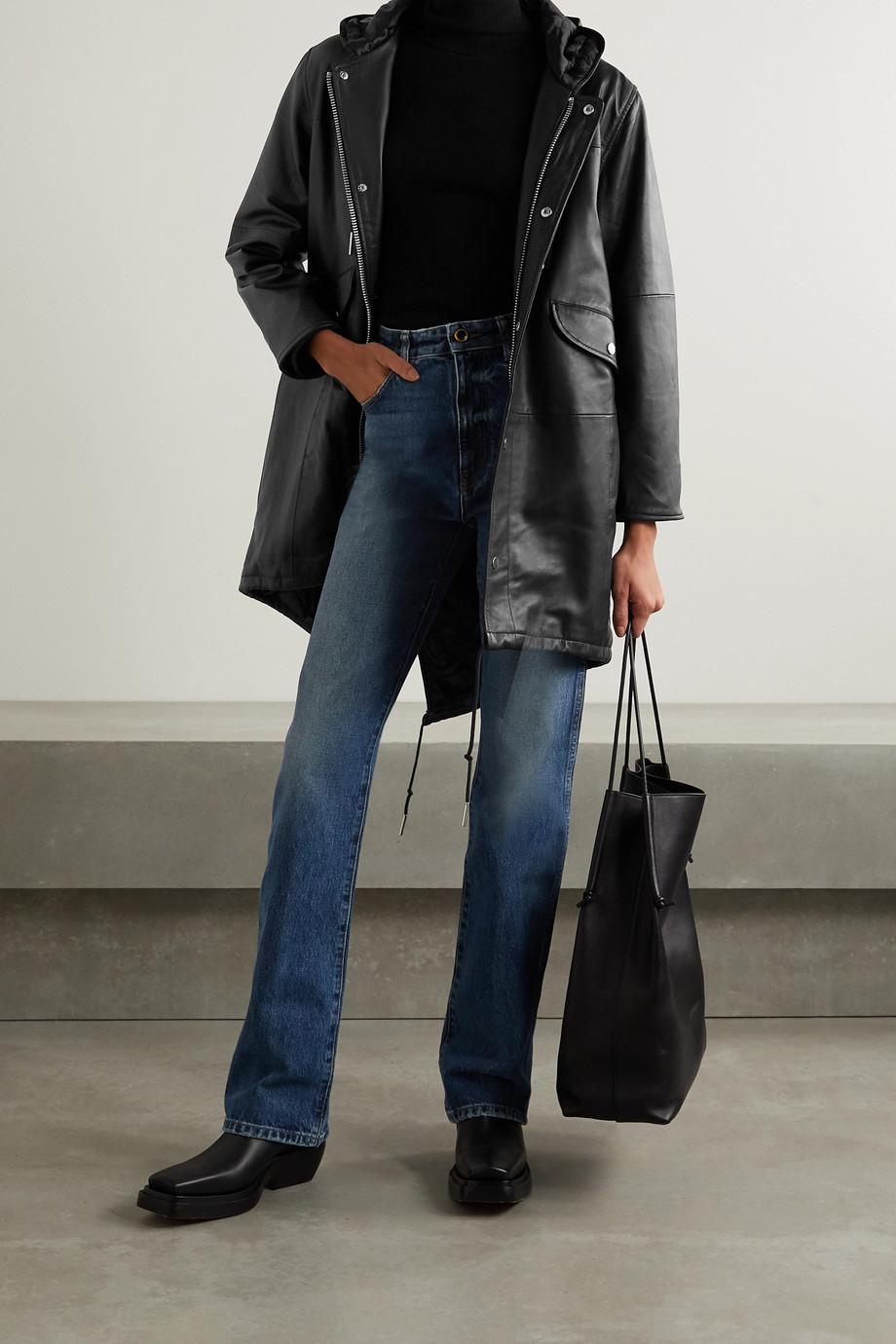 Deadwood + NET SUSTAIN Payne hooded leather parka