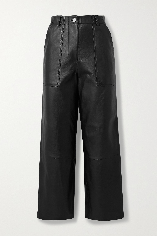 Deadwood Presley leather wide-leg pants