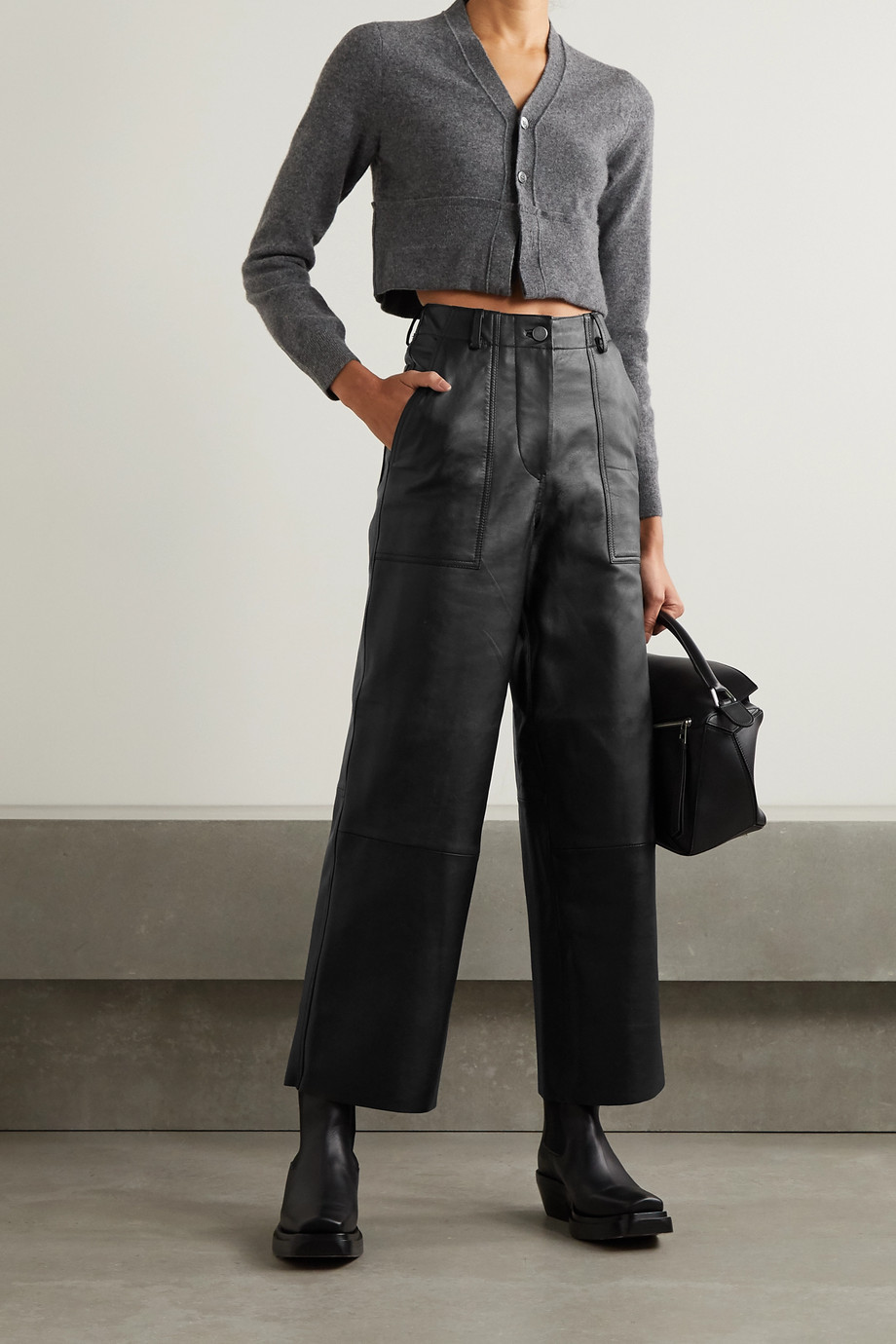 Deadwood Presley leather wide-leg pants