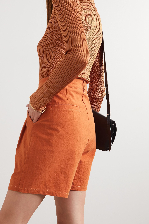 L.F.Markey Henry pleated cotton shorts