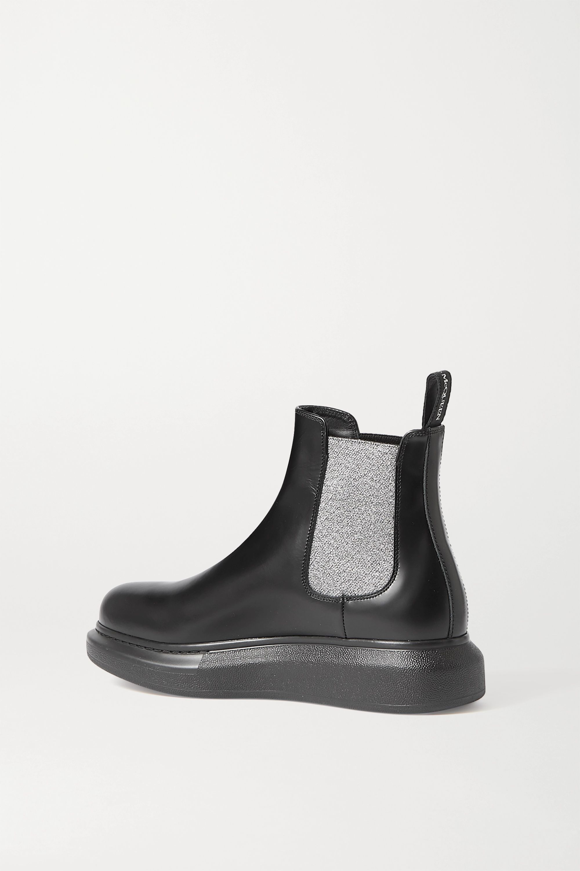 Black Glossed-leather Exaggerated-sole Chelsea Boots | Alexander Mcqueen