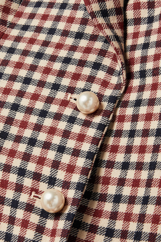 JW Anderson Checked wool peplum blazer