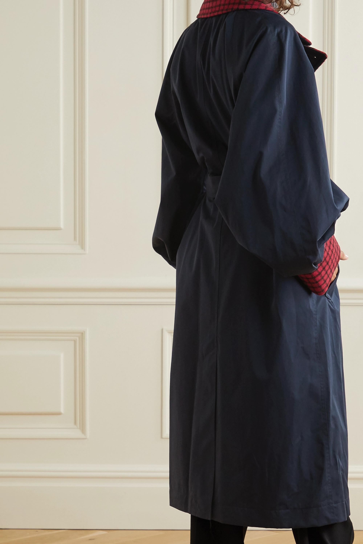 JW Anderson Wool blend-trimmed cotton-gabardine trench coat