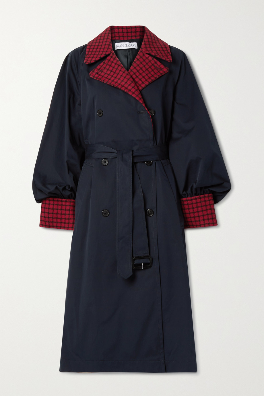 JW Anderson Wool blend-trimmed cotton-gabardine trench coat