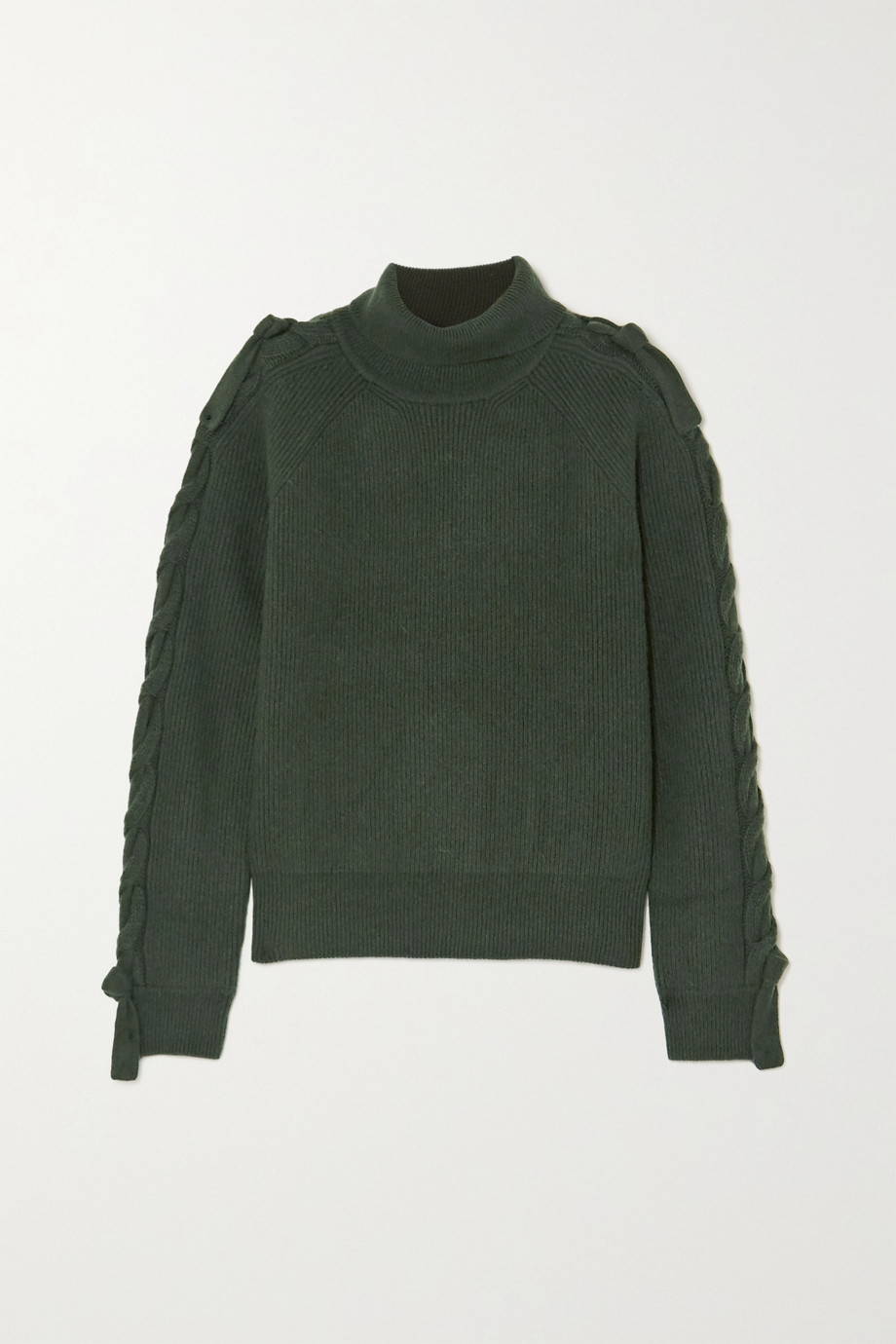 JW Anderson Cable-knit alpaca and yak wool-blend turtleneck sweater